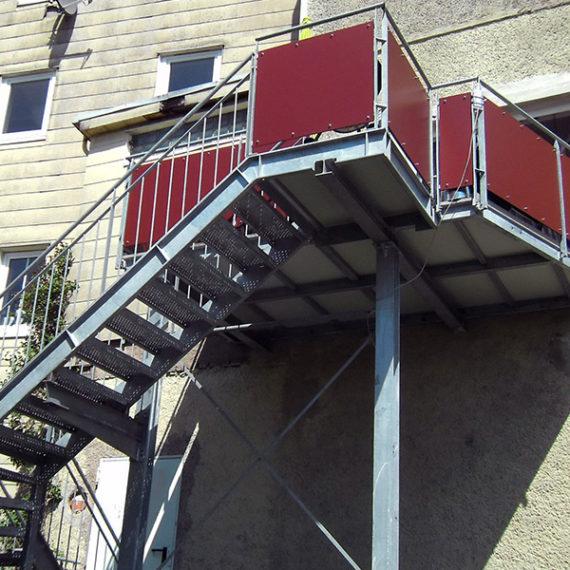 Balkon Treppenanlagen aus Metall